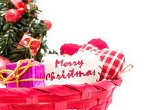 Julgran och julpynt Arkivbild