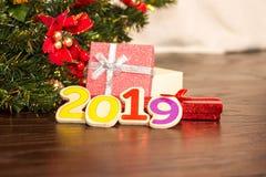 Julgran och kort för nytt år fotografering för bildbyråer