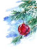 Julgran och leksak Royaltyfri Bild