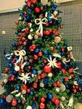 Julgran och prydnader Royaltyfria Bilder