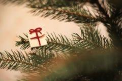 Julgran och vitgåva Arkivfoton