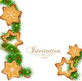 Julgran på den vita bakgrunden stock illustrationer