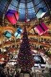 Julgran på det Lafayette gallerit Royaltyfri Fotografi