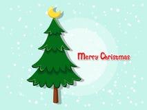Julgran på färgbakgrund lyckligt nytt år Royaltyfria Bilder