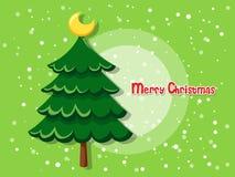 Julgran på färgbakgrund lyckligt nytt år Arkivbilder
