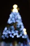 Julgran på natten Arkivbilder