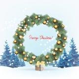 Julgran som dekoreras med bollar royaltyfri illustrationer