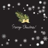 Julgran som dekoreras med bollar vektor illustrationer