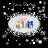 Julgran som dekoreras med bollar stock illustrationer