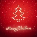 Julgran som göras av ferieljus Stock Illustrationer