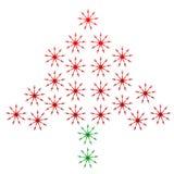 Julgran som göras av gafflar Royaltyfri Fotografi