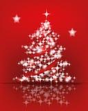Julgran som göras av lampor stock illustrationer