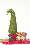 Julgran som göras av sisal arkivbilder