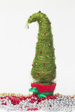 Julgran som göras av sisal arkivfoton