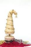 Julgran som göras av sisal arkivbild