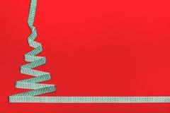 Julgran som göras från band arkivfoton