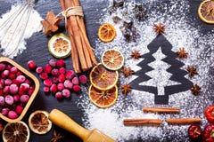 Julgran som göras från mjöl Arkivbild