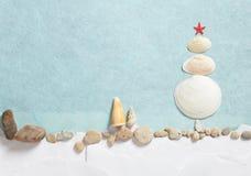 Julgran som göras från skal Royaltyfri Bild