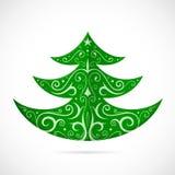 Julgran som symbolet för vinterferier Arkivfoto