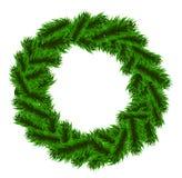 Julgran-träd krans Royaltyfri Foto