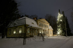 Julgran utomhus Fotografering för Bildbyråer