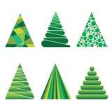 Julgranar av geometriska former Arkivbilder