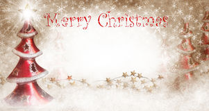 Julgranar med glad jul Fotografering för Bildbyråer