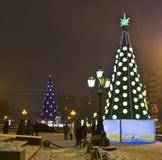 Julgranar Moscow Royaltyfri Bild