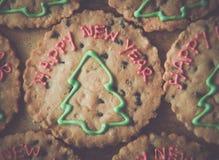 Julgranar på bruna kakor Royaltyfria Foton
