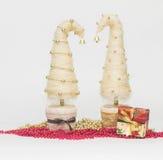 Julgranar som göras av sisal royaltyfri fotografi