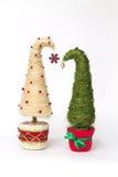 Julgranar som göras av sisal arkivfoton