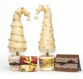 Julgranar som göras av sisal arkivbild