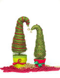 Julgranar som göras av sisal fotografering för bildbyråer