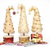 Julgranar som göras av sisal arkivbilder