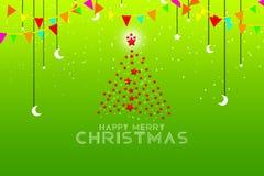 Julgranbakgrund - illustration för glad jul Arkivfoto