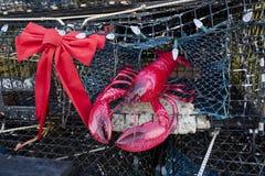Julgranen för hummerkruka, Provincetown, Massachusetts Royaltyfri Foto
