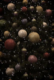 Julgranen klumpa ihop sig bakgrund Arkivbilder