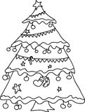 Julgranen räcker skissar Arkivbild