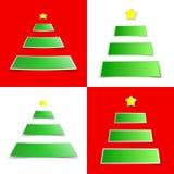 Julgranetikett royaltyfri illustrationer