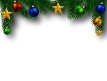 Julgranfilial med smyckning stock illustrationer