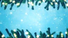 Julgranfilialer som dekoreras med ljusa kulor