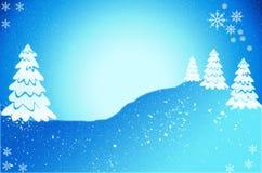 Julgrankort med snö julen dekorerade illustrationtreen Royaltyfria Foton