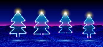 Julgranneonsymbol eller beståndsdel för helgdagsaftonberöm för nya år stock illustrationer