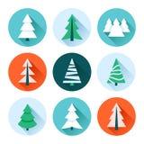 Julgransamling stock illustrationer