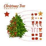 Julgranskapare stock illustrationer