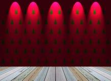 Julgrantapet med ljus Royaltyfri Fotografi