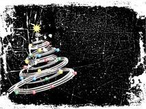 julgrunge vektor illustrationer