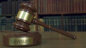 Julgue o martelo do ` s e obstrua-o com inscrição do PROCESSO LEGAL rendição 3d Fotos de Stock
