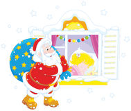 julgåvor santa Royaltyfria Bilder