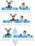julhälsningar stock illustrationer